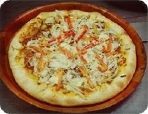 Pizza klein - Ø ca. 26cm Peperoniwurst, Paprika, Zwiebeln