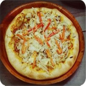 Pizza GroB- Ø 30cm Sardellen, Pilze, Oliven, Peperoni
