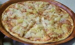 Pizza GroB Ø 30cm  Schinken,Ananas,Curry